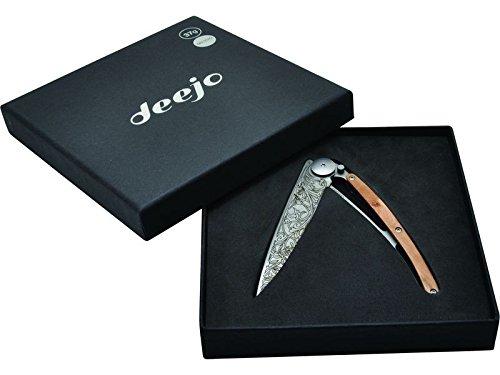 Deejo TATTOO AISI 420 Steel Liner-Lock Belt Clip in Presentation Box