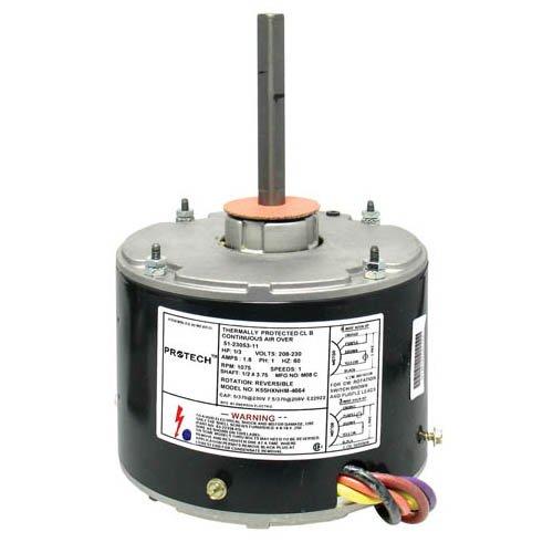 51-21853-83 - OEM Upgraded Rheem Condenser Fan Motor 13 HP 208-230 Volts 1075 RMP