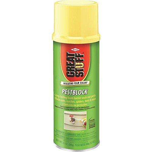8 Pk GREAT STUFF 12 Oz Gray Color Pestblock Insulating Foam Sealant 11000714