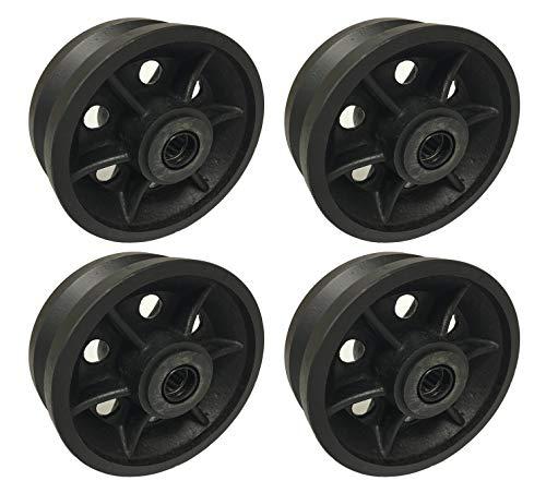 4 Heavy Duty Caster Wheels Set 4 5 6 8 V-Groove Wheel Set with Bearing Kit 6 Bearing