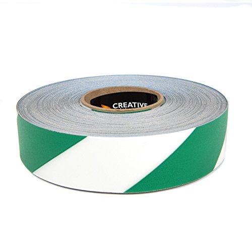 SafetyTac STH273 Hazard 2x100 Industrial Floor Marking Tape GreenWhite