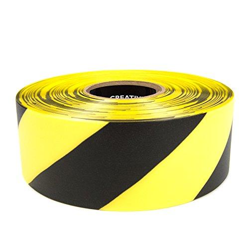SafetyTac STH370 Hazard 3x100 Industrial Floor Marking Tape YellowBlack