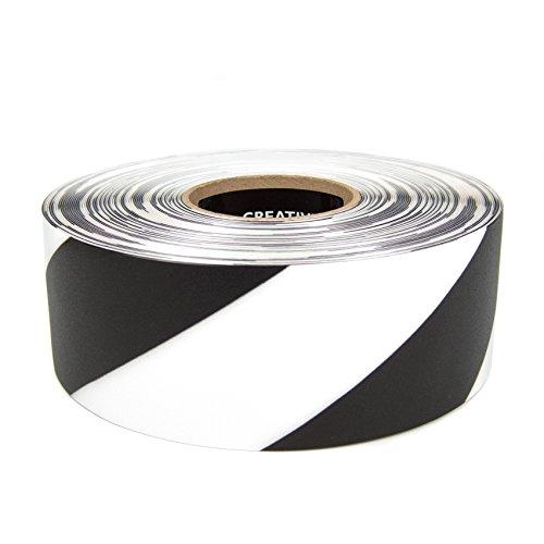 SafetyTac STH372 Hazard 3x100 Industrial Floor Marking Tape BlackWhite