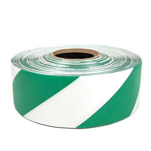 SafetyTac STH373 Hazard 3x100 Industrial Floor Marking Tape GreenWhite