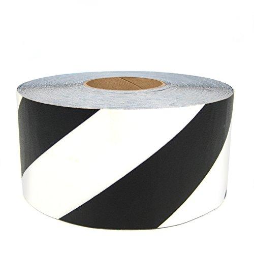 SafetyTac STH472 Hazard 4x100 Industrial Floor Marking Tape BlackWhite