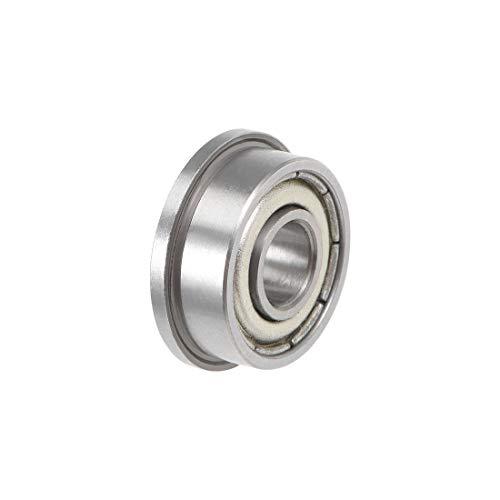 uxcell FR3ZZ Flange Ball Bearing 316x12x0196 Shielded Chrome Bearings 4pcs