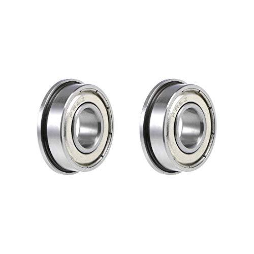 uxcell FR6ZZ Flange Ball Bearing 38 x 78 x 932 Shielded Chrome Bearings 2 Pcs
