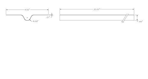 Zurn QHTP Heat Transfer Plate 20 Length Metal Pack of 50