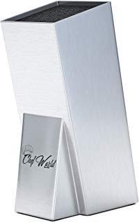 Knife Block - Universal Knife Block - Stainless Steel Knife Block - Knife Holder - Kitchen Knife Block - Knife Storage - Kitchen Organizer - Chefworld Knife Block