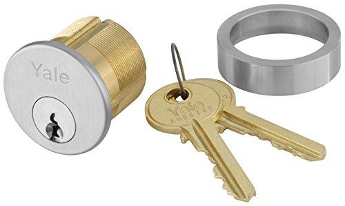 Yale 2153X1-18 x 626 Mortise Cylinder Para Keyway Keyed Random 6 Pin 1 18 626 Satin Chrome Finish