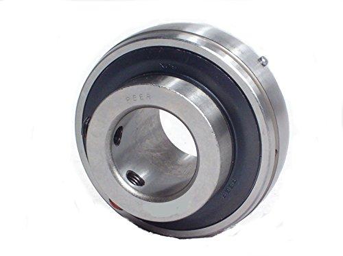 Peer Bearing UC207-22 UC200 Series Insert Bearing Relubricable Set Screw Locking Collar Single Lip Seal 1-38 Bore 19 mm Wide Inner Ring 429 mm Spherical Outer Ring 72 mm Outer Diameter