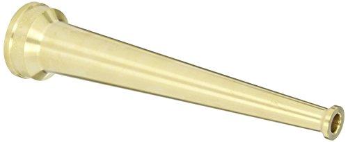 Dixon Valve BN15F Brass Fire Equipment Plain Hose Nozzle 1-12 NST NH 10 Length 12 Orifice