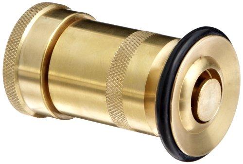 Moon 520-1021 Brass Fire Hose Nozzle Heavy Duty Industrial Fog 36 gpm 1 NH