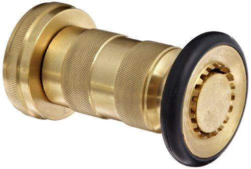 Moon 520-2011 Brass Fire Hose Nozzle Heavy Duty Industrial Fog 108 gpm 2 NPSH