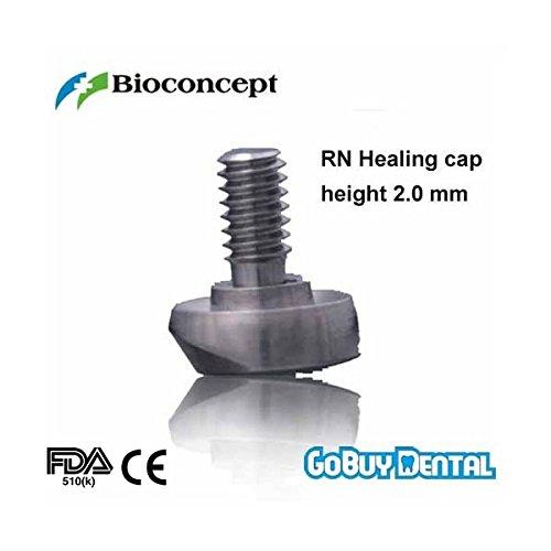 Bioconcept Straumann Compatible Dental Implants Rn Healing Cap Labial Bevel Short Height 20mm
