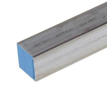 Online Metal Supply 6061-T6511 Aluminum Square Bar 1 x 1 x 12 long