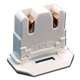 10-PACK LH0619 UL Listed Non-Shunted BJB 26313101650 Slide On U-Lamp Holder Medium Bi-Pin Socket for Fluorescent Tube Light Replacement-Low Profile