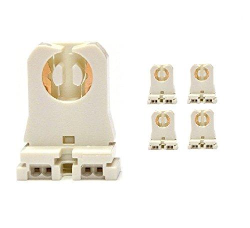 4-Pack of Fulight -UL Listed- Non-Shunted T8 Lamp Holder Socket Tombstone for LED Fluorescent tube lights Medium Bi-Pin Socket Turn-Type - For Programmed Start Ballasts - Standard Profile