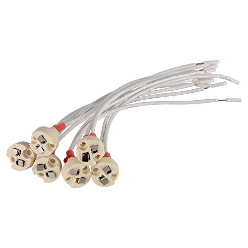 Onite MR16 MR11 Lamp Socket Holder Common to Miniature Bi-Pin Base G4 G53 6-Pack