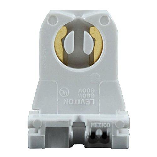 T8 or T12 - Turn-Type Lampholder - Medium Bi-Pin Socket - Shunted - For Instant Start Ballasts - Low Profile - 10 Pack - Leviton 23351
