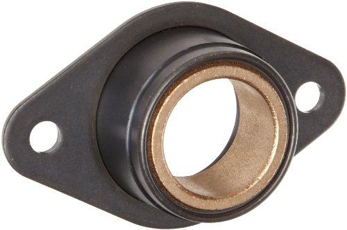 Spyraflo BFM-1000-B Self-Aligning SAE-840 Oil Impregnated Bronze Bearing With 2-Bolt Hole 1 Inner-Diameter Steel Flange