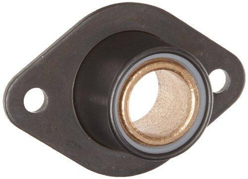 Spyraflo BFM-4M-B Self-Aligning SAE-840 Oil Impregnated Bronze Bearing With 2-Bolt Hole 4 mm Inner-Diameter Steel Flange