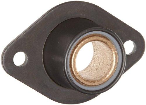 Spyraflo BFM-8M-B Self-Aligning SAE-840 Oil Impregnated Bronze Bearing With 2-Bolt Hole 8 mm Inner-Diameter Steel Flange