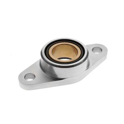 Spyraflo HF1-6M-B Self-Aligning SAE-840 Oil Impregnated Bronze Bearing With Aluminum 2-Bolt Hole 6 mm Inner-Diameter Housing-Flange