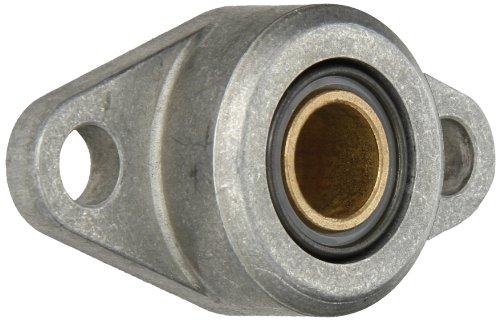 Spyraflo HF3-15M-B Self-Aligning SAE-840 Oil Impregnated Bronze Bearing With Aluminum 2-Bolt Hole 15 mm Inner-Diameter Housing-Flange