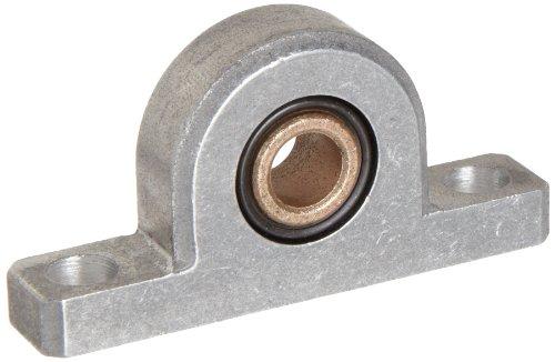 Spyraflo PB1-312-B SAE-840 Oil Impregnated Bronze Bearing Pillow Block 2 Bolt Holes 0312 Bore Diameter Aluminum Inch