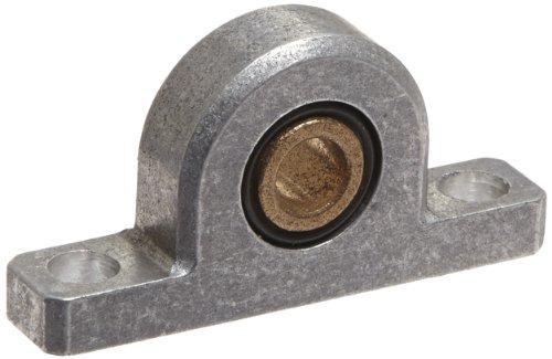 Spyraflo PB1-8M-B SAE-840 Oil Impregnated Bronze Bearing Pillow Block 2 Bolt Holes 8 mm Bore Diameter Aluminum