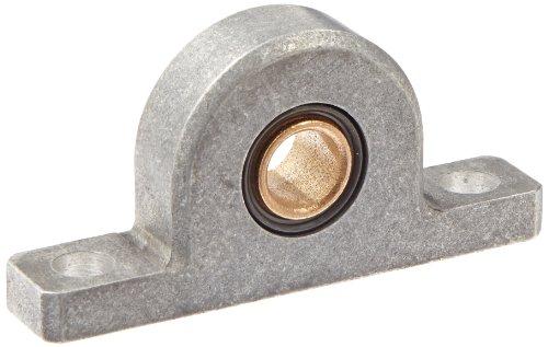 Spyraflo PB2-12M-B SAE-840 Oil Impregnated Bronze Bearing Pillow Block 2 Bolt Holes 12 mm Bore Diameter Aluminum