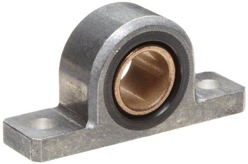 Spyraflo PB2-750-B SAE-840 Oil Impregnated Bronze Bearing Pillow Block 2 Bolt Holes 0750 Bore Diameter Aluminum Inch
