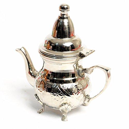 BeldiNest Handmade Silver Plated Copper Creamer Moroccan Small Teapot