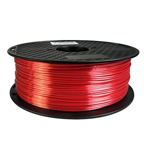 Shiny Silk Red PLA Filament 175 mm 3D Printer Filament 1KG 22LBS Spool 3D Printing Materials Shiny Silky Shine Silk Like Feeling PLA CC3D Silk Metaillic Gold Silver Copper