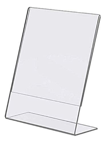 Tz Tagz Brand Plexi Acrylic 85 X 11 Single Slant Back Design Sign Holder - Clear - Pack of 6