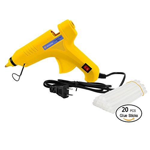 Huaha Hot Glue Gun 60W With 20pcs Glue Sticks Strong High Temperature Hot Melt Glue Gun Kit Adhesive Art Craft Industrial Glue Gun