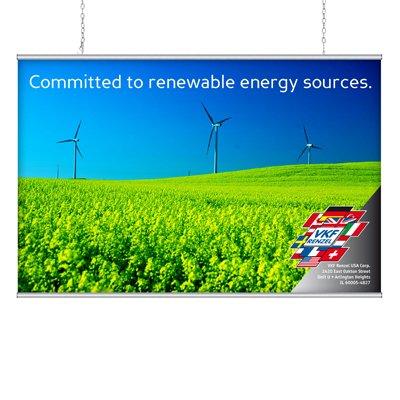 Aluminum Banner Hanger Poster Snap - 60 wide