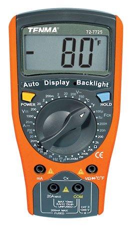 Tenma 72-7725 2000 Count 3-12 Digit Multimeter DMM wTemperature