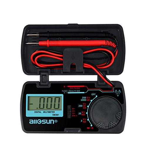 all-sun Digital Multimeter  DMM  Multi Tester Amp  Ohm  Volt Meter  Diode and Continuity Test Pocket Size