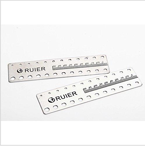 2pcs New stainless steel Dental Endo Rulers Endodontic Span Measure Scale Ruler B008