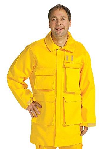 TOPPS SAFETY JK12-5648-Reg58-60 NOMEX Brush Gear Jacket 60 oz Regular4X-Large 58-60 Size Yellow