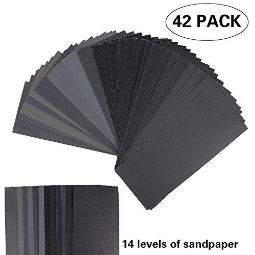 Grit Sandpaper 9 x 36 Inch 120 to 3000 Grit Wet Dry Sandpaper Assortment for Automotive SandingWood Furniture FinishingWood Turing Finishing