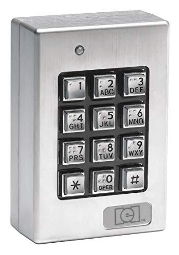 Access Keypad Weatherizd 3inW GrayBlack