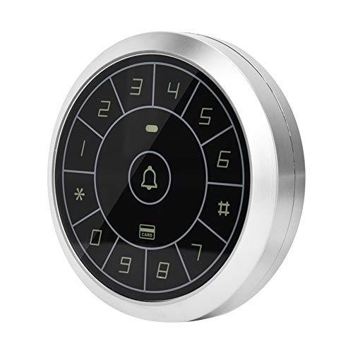 Zinc Alloy Circular Control Keypad Controller - Touch Panel Card Reader Password Door Access Control Keypad for Home Shop Lab Factory Warehouse Apartment Building
