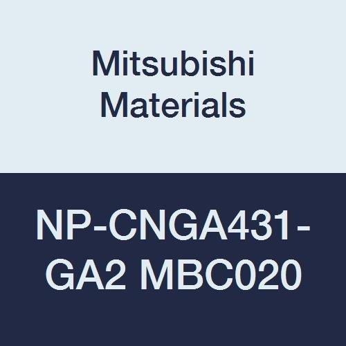Mitsubishi Materials NP-CNGA431-GA2 MBC020 Coated CBN CN Type Petit Tip Negative Turning Insert with Hole  Rhombic 80° GA Honing No Wiper 2 Tip 05 IC 0187 Thick 0016 Corner Radius