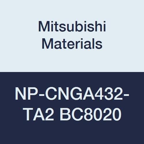 Mitsubishi Materials NP-CNGA432-TA2 BC8020 Coated CBN CN Type Petit Tip Negative Turning Insert with Hole  Rhombic 80° TA Honing No Wiper 2 Tip 05 IC 0187 Thick 0031 Corner Radius