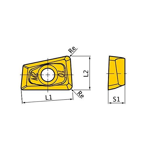 Mitsubishi Materials QOMT0934R-M2 VP15TF Coated Carbide Milling Insert Class M Round Honing Grade VP15TF 0134 Thick 0031 Corner Radius Pack of 10
