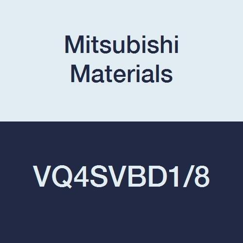 Mitsubishi Materials VQ4SVBD18 VQ4SVB Series Carbide Smart Miracle Ball Nose End Mill Short Flute Variable Curve 4 Flutes 01250 Cutting Dia 00625 Corner Radius 0188 LOC
