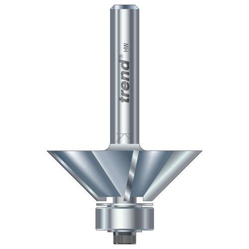 Trend 415x14Tc Guided 3 Flute 45 Degree Chamfer x 11mm Cut